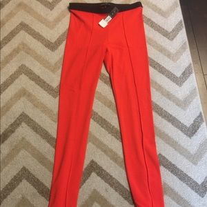 NWT Theory Kiestan Leggings Size Small in Red